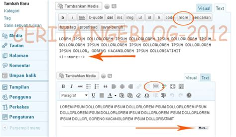 cara membuat read more di blog wordpress cara membuat read more pada blog wordpress cerita ngeblog