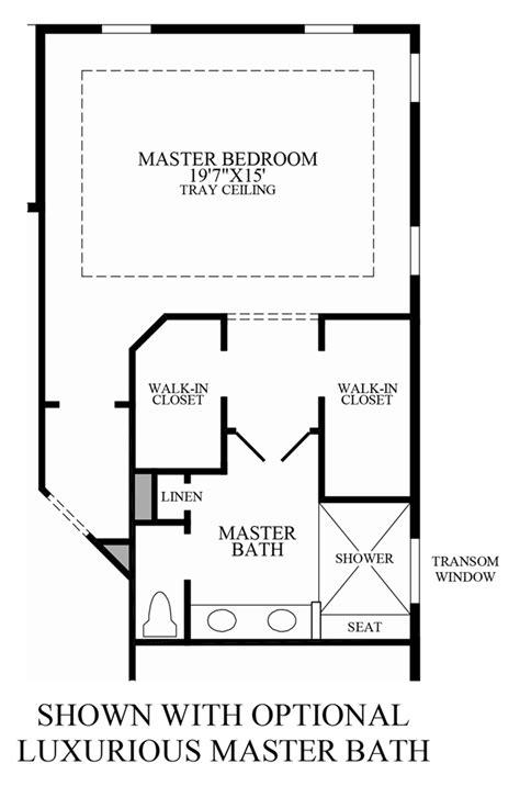 luxury master bathroom floor plans regency at palisades the merrick home design