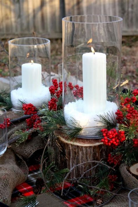 creative centerpiece ideas for your holiday dinner table custom wood outdoor christmas table setting decorating