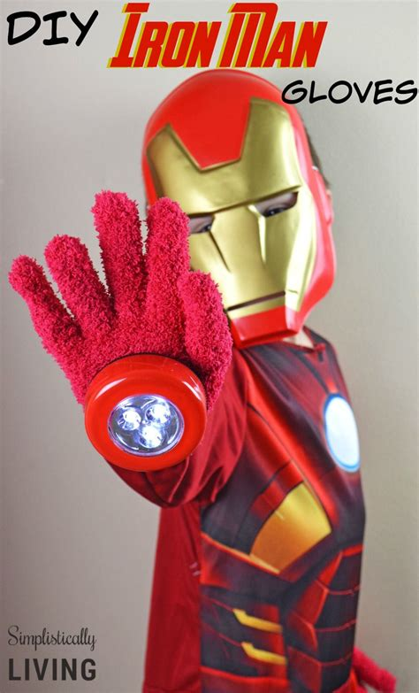 diy iron man gloves dollar store craft diy superhero