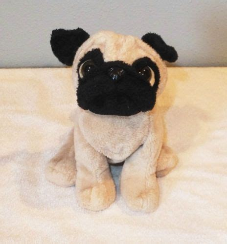 pug webkinz webkinz pug puppy plush stuffed ganz animal 8 quot lil kinz brown no code