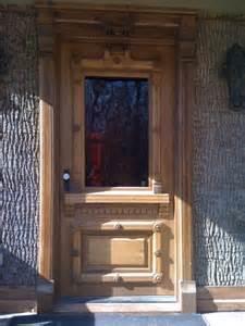 antique front entry door
