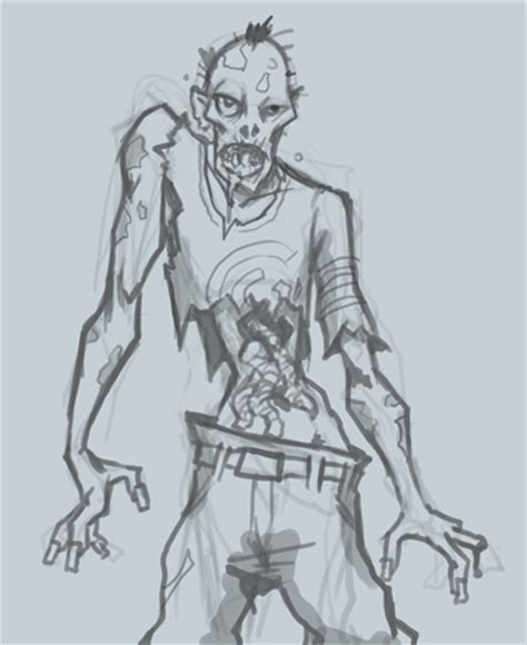 zombie sketch tutorial software basket how to draw zombie character