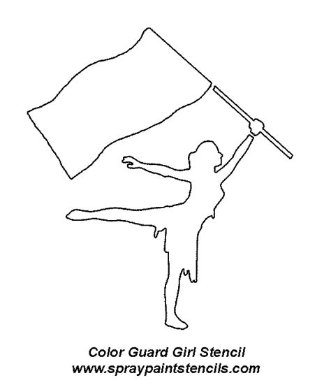 coloring page guard danseres colorguard color guard flags and