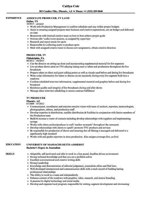 Producer Resume by Tv Producer Resume Sles Velvet