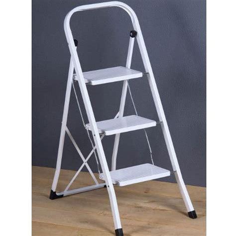 sgabello scaletta sgabello scaletta richiudibile 3 gradini acciaio bianco