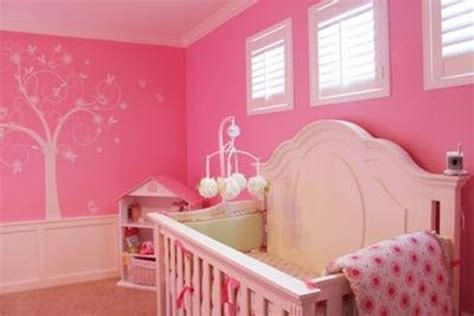 pink baby room 23 ideas to paint nursery walls in bright colors kidsomania
