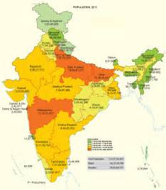 us map state wise state wise population of india as per 2011 census