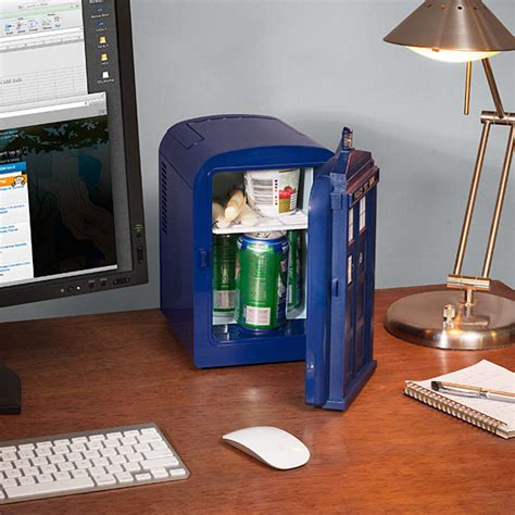 Small Desk Fridge Doctor Who Tardis Mini Fridge Thinkgeek