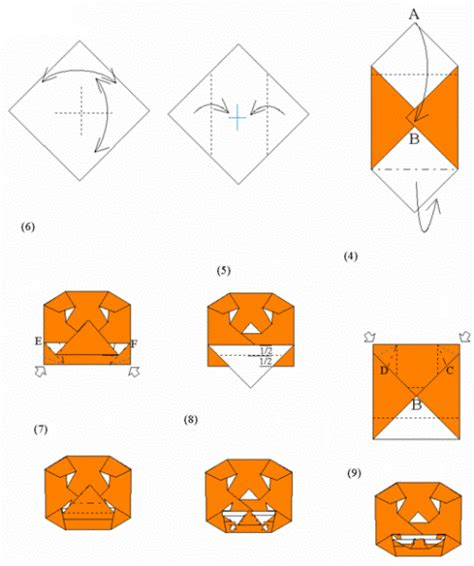 printable origami pumpkin instructions related keywords suggestions for jack o lantern origami