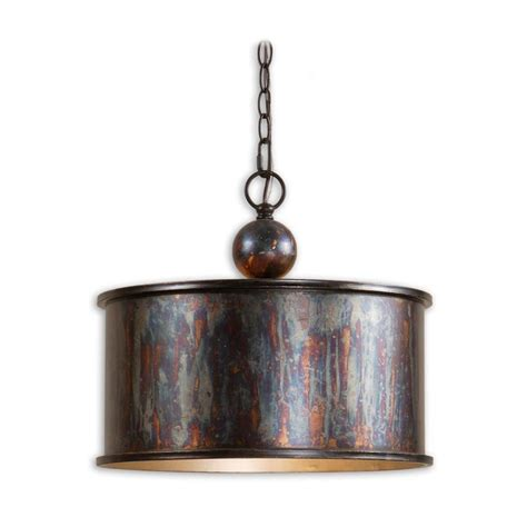 Pendant Light Bronze Drum Pendant Light In Oxidized Bronze Finish 21921 Destination Lighting