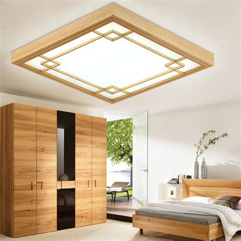 ceiling lights for living room aliexpress buy japanese tatami wood led ceiling l