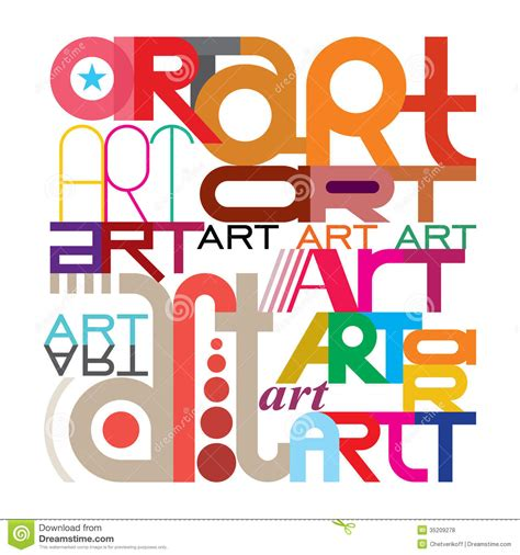 Design Art Text | art text design stock vector image of illustration