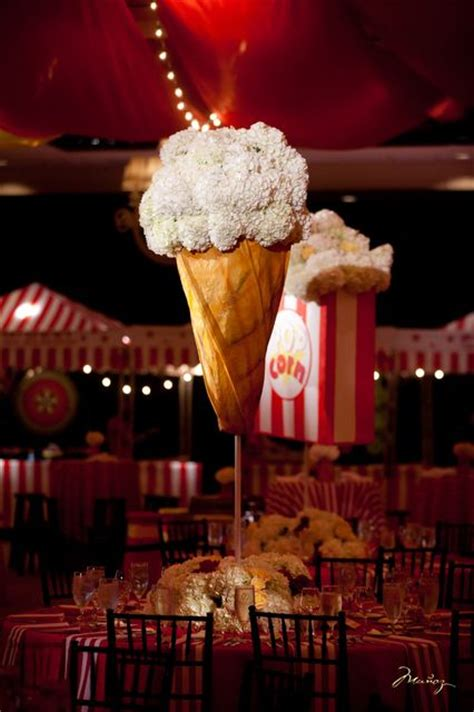 Decorations At A Bat Mitzvah Carnival Explore Itsmymitzvah Vintage Circus Centerpieces