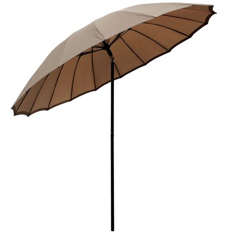 Canopy Umbrellas For Patios 2 5m Taupe Tilting Garden Parasol Sun Shade Canopy Umbrella