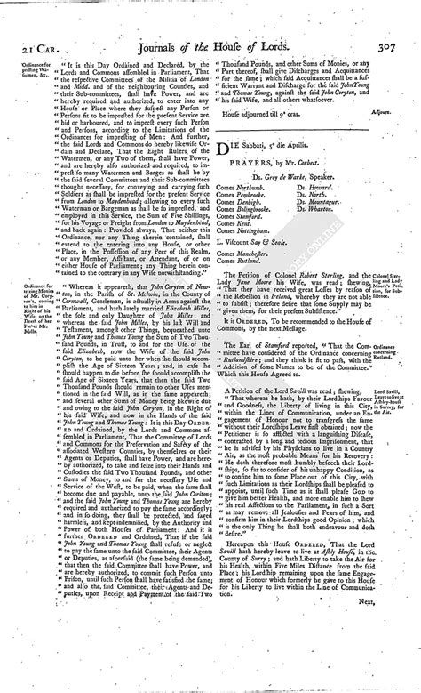 section 179 history house of lords journal volume 7 4 april 1645 british