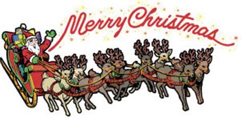best art of santa and eight teindeer santa claus and reindeer clip happy holidays