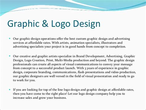 graphic design company profile sle company profile of sahastra soft technologies