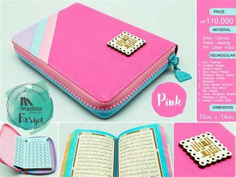 Al Quran Muslimah Model Diary Azalia Terjemah Rainbow alquran madina fasya