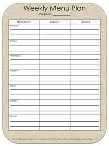 weekly menu plan template indesign sle files free