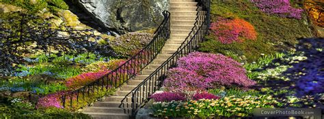 beautiful colorful garden facebook cover places