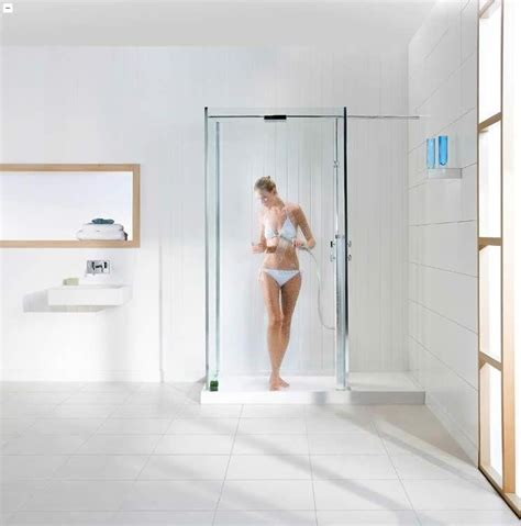 Bathroom Ideas With Shower Curtain Walk In Showers Without Doors Photos
