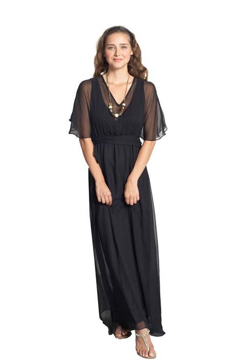 Dress Maxy Clara clara silk nursing maxi dress in black by mothers en vogue