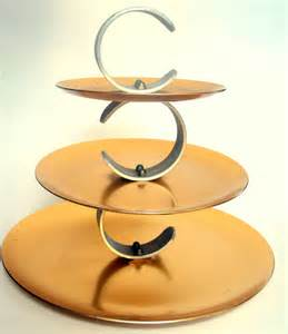 Three Tier Serving Tray 3 Tier Aluminum Serving Stand Serving Tray Regal Ware