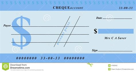 dollar cheque stock photography image 4182842