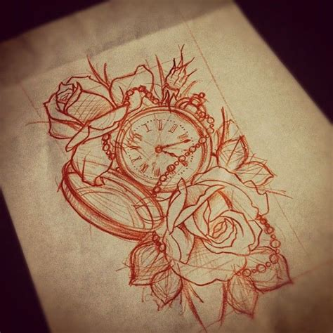 clock roses tattoo 17 best ideas about clock design on