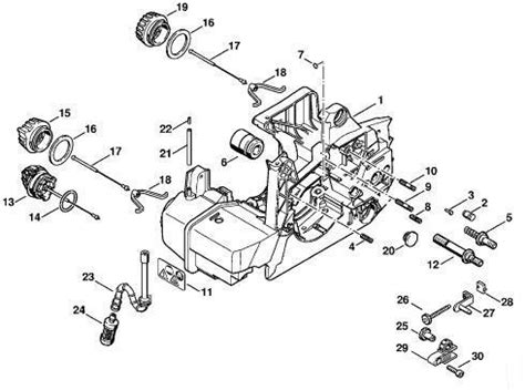 stihl 024 av parts diagram stihl 028 chainsaw parts all image wiring diagram with