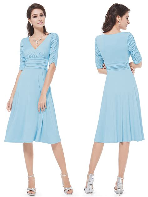 Casual Light Blue Dress by Image Gallery Light Blue Casual Dress