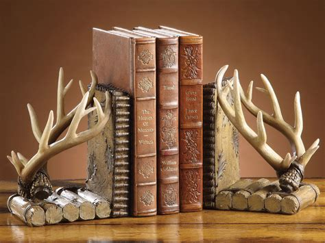 Faux Antler Bookends   Set of 2