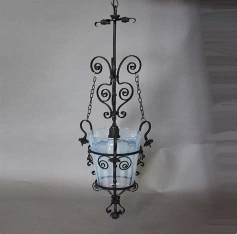 wrought iron hanging ls aesthetic movement hanging lantern in wrought iron with
