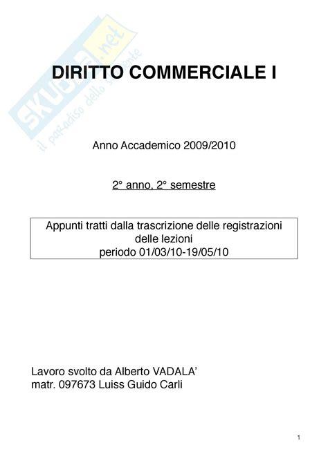diritto commerciale dispense liquidazione coatta amministrativa dispense