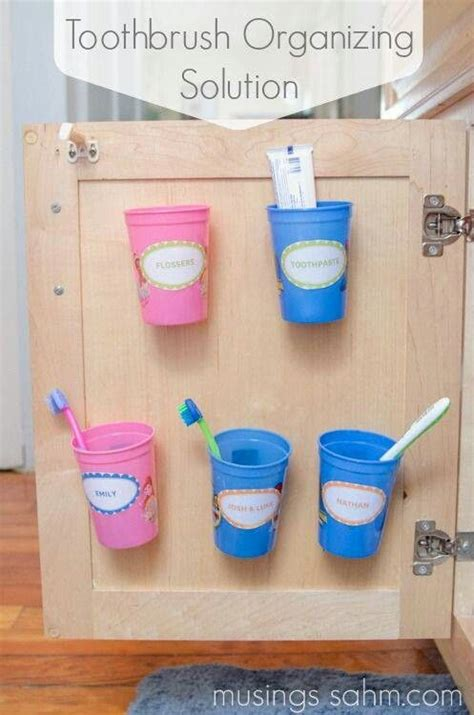 kids bathroom storage ideas 17 best ideas about toothbrush organization on pinterest