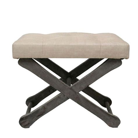 x base ottoman tufted quot x quot base ottoman footstool