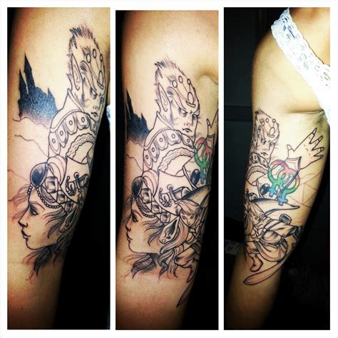 zelda tattoo cover up unfinished zelda cover up half sleeve start done by