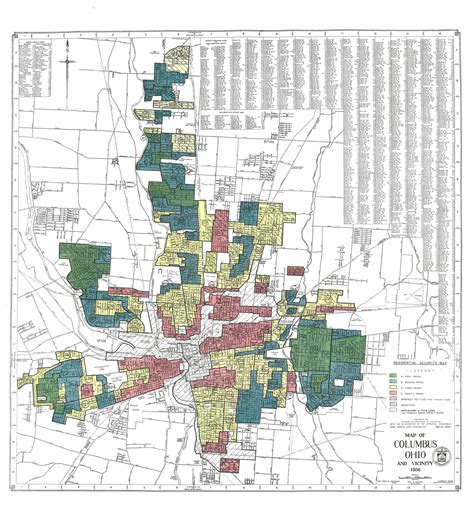 map of columbus ohio redlining engaging columbus