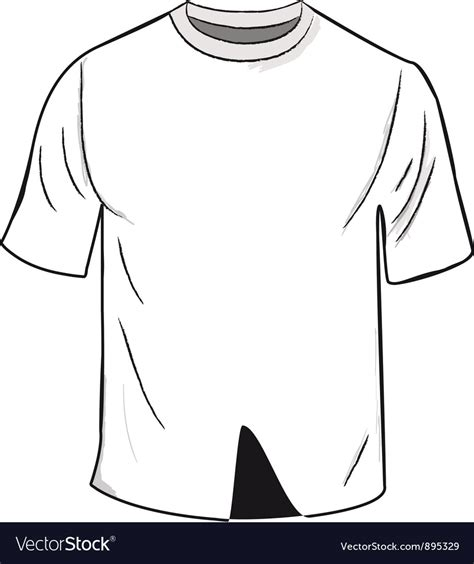 White T Shirt Template Royalty Free Vector Image Shirt Template Vector