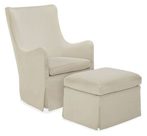room and board glider ellery swivel glider chair ottoman room board available to order in any of their colors