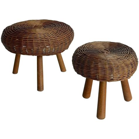 Wicker Stools For Sale by Wicker Stools In Style Of Perriand For Sale At 1stdibs