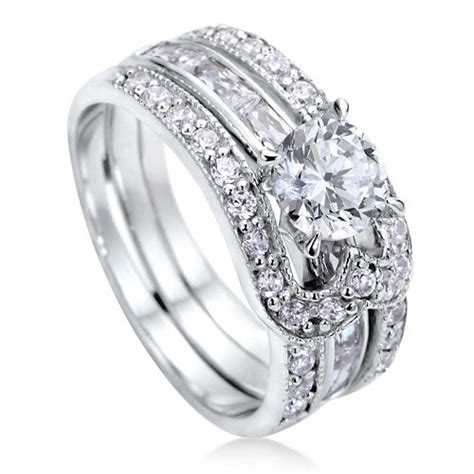diamonds and sterling silver 925