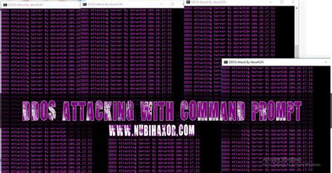 tutorial  mudah ddos attack   program cmd