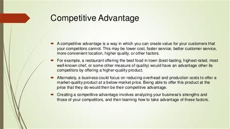 Competitive Advantage Mba by Maintaining Competitive Advantage E Nv