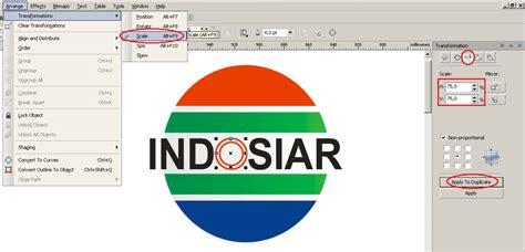 tutorial buat logo indosiar langkah langkah cara membuat logo indosiar menggunakan