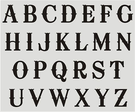 fancy lettering template items similar to alphabet stencil 024 a z letters approx