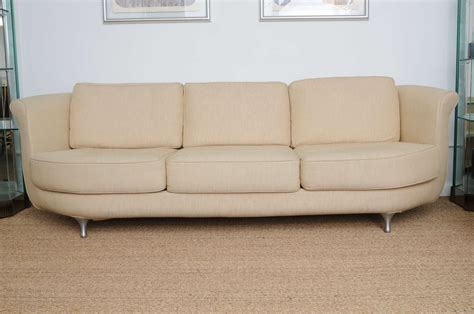 deep sofas comfortable comfortable and deep seated linen moroso sofa at 1stdibs