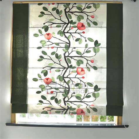 leaf patterned roman blinds best leaf pattern roman shade blackout flat shaped with