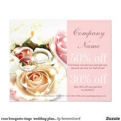 Wedding Brochure Bouquets by Wedding And Event Planning Flyer Design Template By